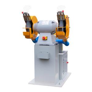 Двухдисковый шлифовальный станок с пылесосом VISPROM BKL-3000
